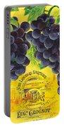 Vigne De Raisins Portable Battery Charger by Debbie DeWitt