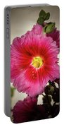 Vignetted Hollyhock Portable Battery Charger