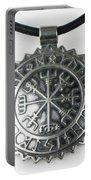Viking Vegvisir Rune Calendar Sterling Silver Pendant Portable Battery Charger
