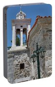 Village Church In Greece Portable Battery Charger