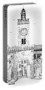 Village Gate In Old Le Thor France Portable Battery Charger