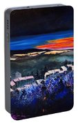 Village In A Winter Morninglight Portable Battery Charger