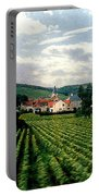 Village In The Vineyards Of France Portable Battery Charger