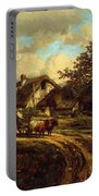 Village Landscape 1844 Portable Battery Charger