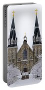 Villanova University After Snow Fall Portable Battery Charger