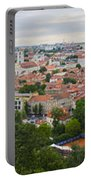 Vilnius Panorama From The Hill Of Three Crosses Portable Battery Charger