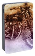 Vincent Black Shadow 2 - Standard Motorcycle - 1948 - Motorcycle Poster - Automotive Art Portable Battery Charger