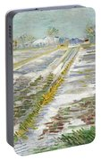 Vincent Van Gogh, Landscape With Snow Portable Battery Charger