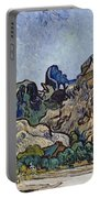 Vincent Van Gogh  Mountains At Saint Remy Portable Battery Charger