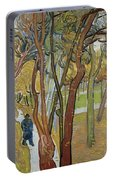 Vincent Van Gogh, The Garden Of Saint Paul's Hospital Portable Battery Charger