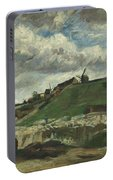 Vincent Van Gogh, The Hill Of Montmartre With Stone Quarry, Paris Portable Battery Charger