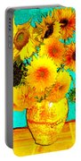 Vincent's Sunflowers 4 Portable Battery Charger