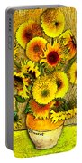Vincent's Sunflowers Portable Battery Charger