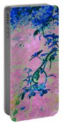 Vine Calligraphy Portable Battery Charger
