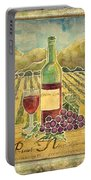 Vineyard Pinot Noir Grapes N Wine - Batik Style Portable Battery Charger