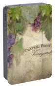 Vineyard Series - Chateau Pinot Noir Vineyards Sign Portable Battery Charger