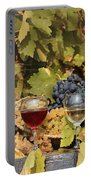 Vineyard With Red And White Wine Autumn Season Portable Battery Charger