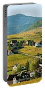 Vineyards In Autumn In The Morning Portable Battery Charger