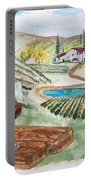 Vineyards Of Tuscany  Portable Battery Charger