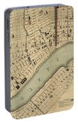 Vintage 1840s Map Of New Orleans Portable Battery Charger
