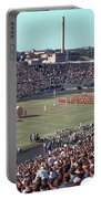Vintage 1955 Photo Of Us Military Color Guard With Big Bertha Dr Portable Battery Charger
