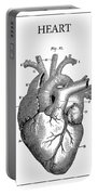 Vintage Anatomical Heart Portable Battery Charger
