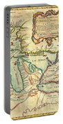 Vintage Antique Map Of The Great Lakes Portable Battery Charger
