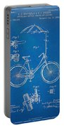 Vintage Bicycle Parasol Patent Artwork 1896 Portable Battery Charger by Nikki Marie Smith