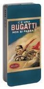 Vintage Bugatti Advert Portable Battery Charger