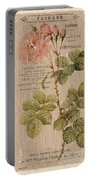 Vintage Burlap Floral 4 Portable Battery Charger