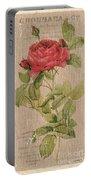 Vintage Burlap Floral Portable Battery Charger