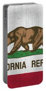 Vintage California Flag Portable Battery Charger