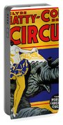 Vintage Circus Rider Portable Battery Charger