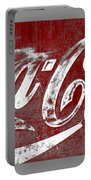 Coca Cola Red And White Sign Gray Border With Transparent Background Portable Battery Charger