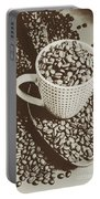 Vintage Coffee Art. Stimulant Portable Battery Charger