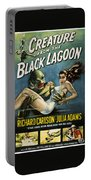 Vintage Creature From The Black Lagoon Poster Portable Battery Charger