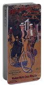 Vintage Cycle Poster March Davis Cycle 100 Dollars Portable Battery Charger