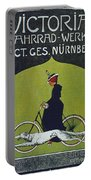 Vintage Cycle Poster Victoria Fahrrad Werke Act Ges Nurnberg Portable Battery Charger