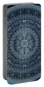 Vintage Denim Mandala Portable Battery Charger