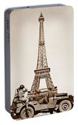 Vintage Eiffel-tower Portable Battery Charger