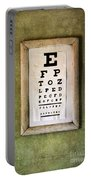 Vintage Eye Chart Portable Battery Charger
