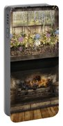 Vintage Fireplace Portable Battery Charger