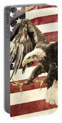 Vintage Flag With Eagle Portable Battery Charger