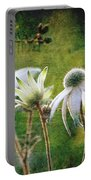 Vintage Flannel Flowers Portable Battery Charger