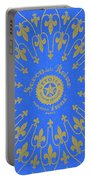 Vintage Fleur De Lis Pattern Design Portable Battery Charger