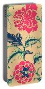 Vintage Flower Design Portable Battery Charger