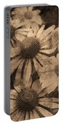 Vintage Flowers Portable Battery Charger