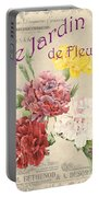 Vintage French Flower Shop 4 Portable Battery Charger