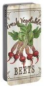 Vintage Fresh Vegetables 1 Portable Battery Charger
