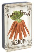 Vintage Fresh Vegetables 3 Portable Battery Charger